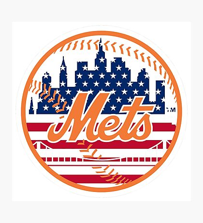 New York Mets Flag Logo Photographic Print