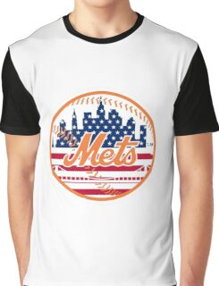 New York Mets Flag Logo Graphic T-Shirt