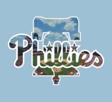Philadelphia Phillies Stadium Logo One Piece - Short Sleeve