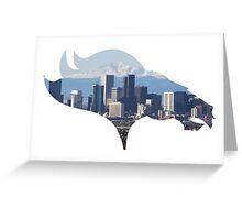 Denver Broncos Skyline Greeting Card