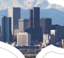 Denver Broncos Skyline Sticker