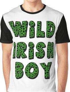 Wild Irish Boy with Animal Print Graphic T-Shirt