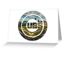 Chicago Cubs Stadium Logo Greeting Card