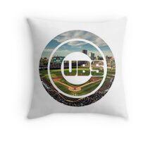 Chicago Cubs Stadium Logo Throw Pillow
