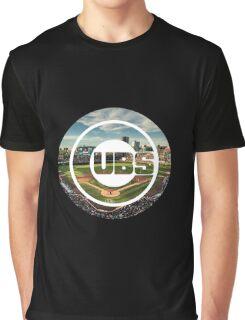 Chicago Cubs Stadium Logo Graphic T-Shirt