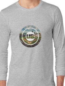 Chicago Cubs Stadium Logo Long Sleeve T-Shirt