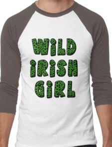 Wild Irish Girl with Animal Print Men's Baseball ¾ T-Shirt