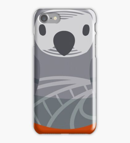 African Gray Nesting Doll iPhone Case/Skin