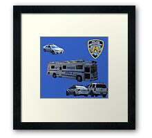 NYPD 3 Framed Print