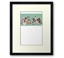 Dog Breed - canis lupus familiaris Framed Print