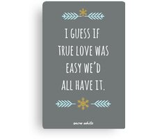 Snow White in True Love Canvas Print