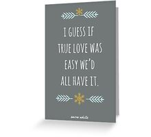 Snow White in True Love Greeting Card