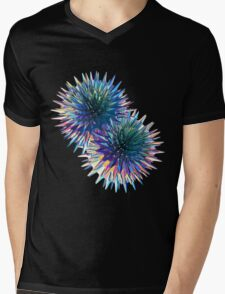 Two Spiky Stars Mens V-Neck T-Shirt