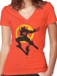 LOGAN THE BEAST Women's Fitted V-Neck T-Shirt