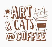 Art and Cats and coffee One Piece - Long Sleeve