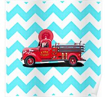 Old Fashioned Fire Truck Poster