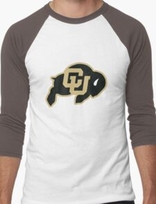 University of Colorado Boulder (felt) Men's Baseball ¾ T-Shirt