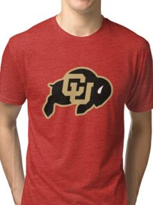 University of Colorado Boulder (felt) Tri-blend T-Shirt