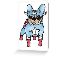 Superhero x French Bulldog 5 of 10 series 1 Greeting Card