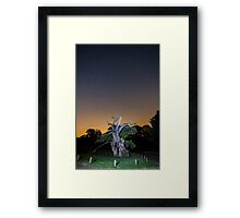 The 800 year old Laund Oak Tree and the night sky IMG-5844 RB Framed Print