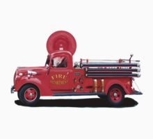 Old Fashioned Fire Truck Baby Tee