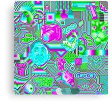 pixel mess Canvas Print