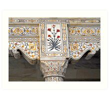 Marble Work at Agra Red Fort  Art Print