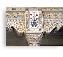 Marble Work at Agra Red Fort  Canvas Print
