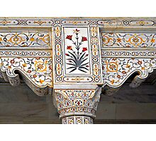 Marble Work at Agra Red Fort  Photographic Print