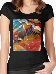 Abstract 8 Women's Fitted Scoop T-Shirt