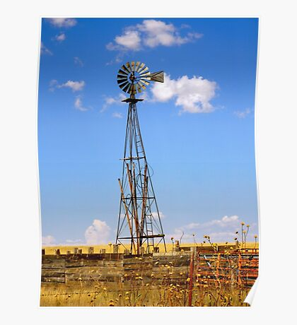 Windmill in Moriarty, New Mexico Poster