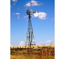 Windmill in Moriarty, New Mexico Photographic Print