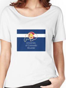 University of Colorado Boulder / Colorado Flag + Women's Relaxed Fit T-Shirt
