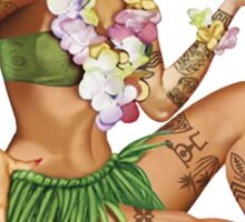 Hawaiian Pin-up Sticker