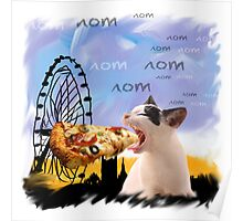 PIZZA CAT in London Poster