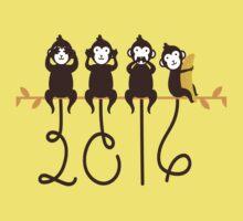 Monkeys 2016 New Year One Piece - Short Sleeve