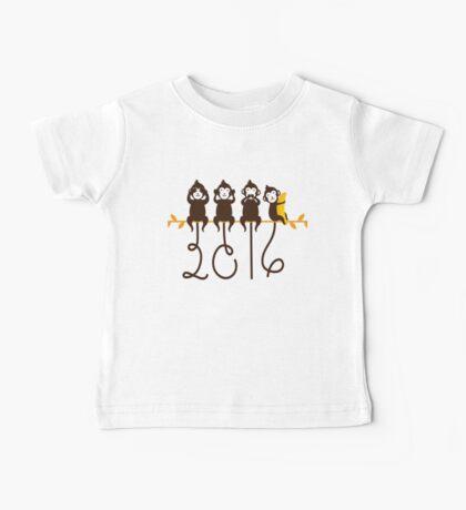 Monkeys 2016 New Year Baby Tee