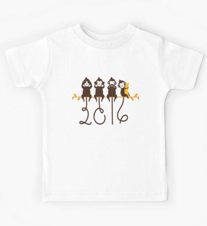 Monkeys 2016 New Year Kids Tee