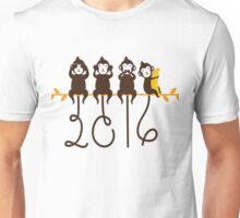 Monkeys 2016 New Year Unisex T-Shirt