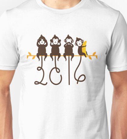 Monkeys 2016 New Year Unisex T-Shirt