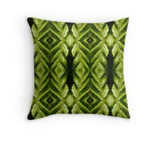 Awesome green leaf  pattern Throw Pillow