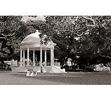 Balmoral Beach Rotunda Black and White Photographic Print