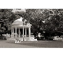Balmoral Beach Rotunda Black and White Photographic Print