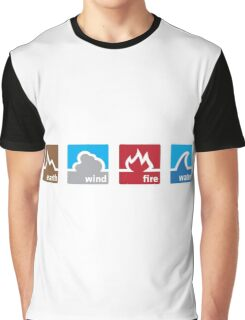 Earth Wind Fire Water Graphic T-Shirt