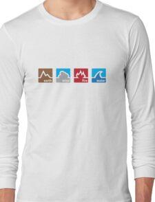 Earth Wind Fire Water Long Sleeve T-Shirt