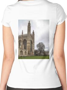 Cambridge, King's College 6 Women's Fitted Scoop T-Shirt