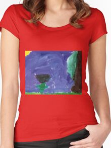 The Dark Flower Women's Fitted Scoop T-Shirt