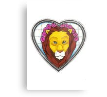 Lions heart you Metal Print
