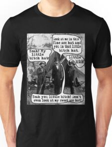 Abe Lincoln and the Little Bitch Hat Unisex T-Shirt