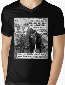 Abe Lincoln and the Little Bitch Hat Mens V-Neck T-Shirt